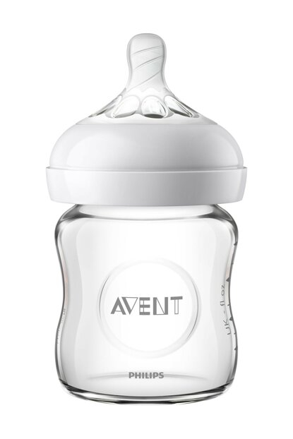 Natural Glass Feeding Bottle 120 Ml SCF 051/17 8710103876205