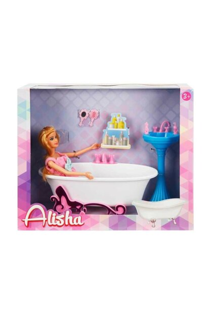 Baby's Enjoyment in the Bathroom - Blue Sink-Pink Box S00001427-42336