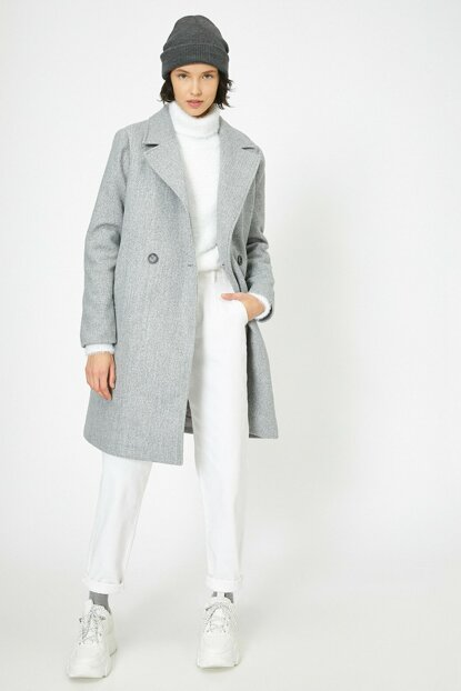 Women's Gray Coat 0KAK06544EW