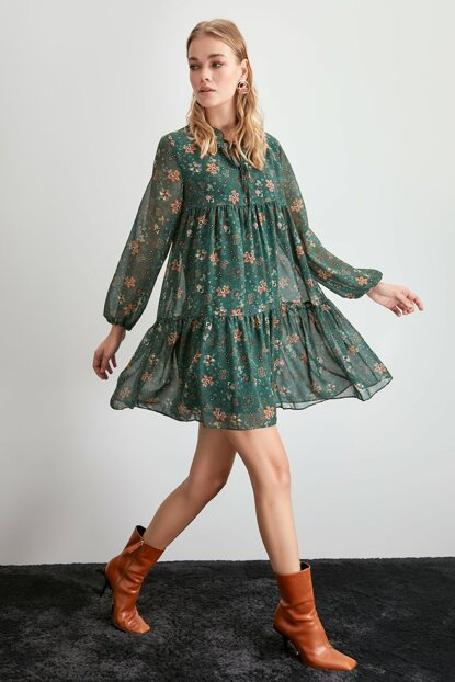 Green Patterned Dress TWOAW20EL1778