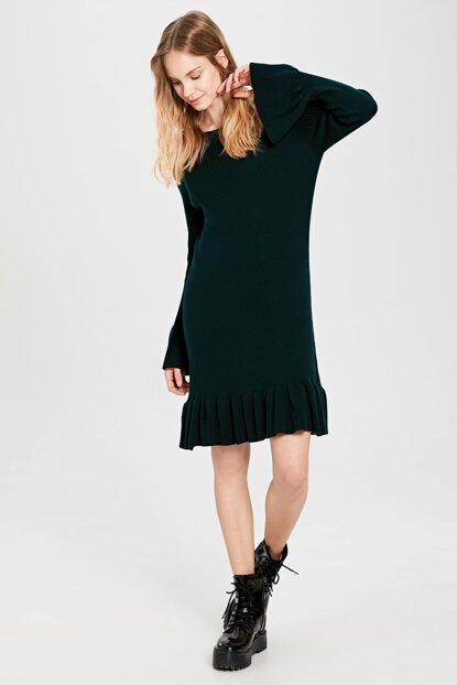 Women's Dark Green Dress 9WS656Z8