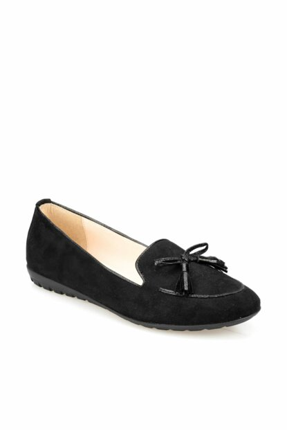 Women's Black Loafer Shoes 000000000100376594