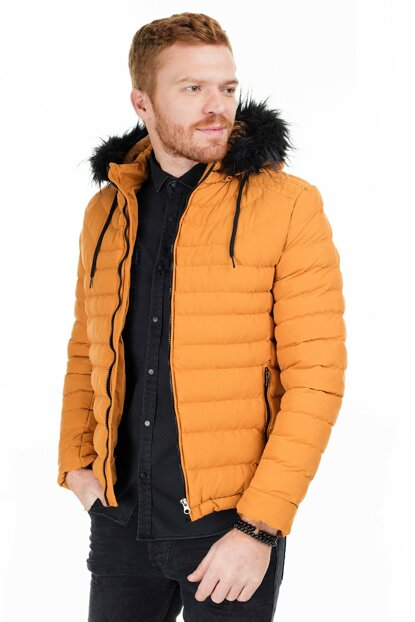 Hooded Slim Fit Coat MEN MONT 55618K5050