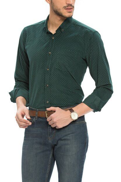 Men's Emerald Green D4R Shirt 6K5138Z8