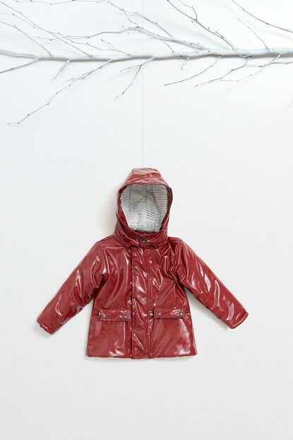 WG-7452-B Children's Patent Leather, Fiber and Lined Coat