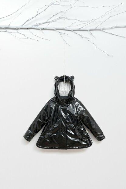 WG-7451 Children Patent Leather, Fiber and Lined Coat