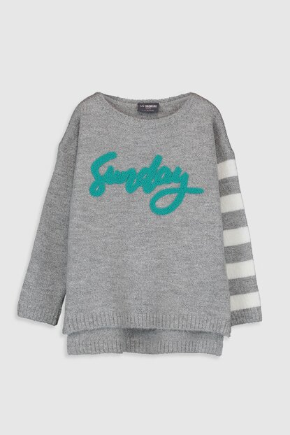 Girl's GRAY MELANGE CT3 Pullover 9WP536Z4