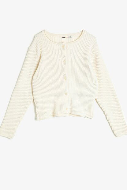 Ecru Girl Sweater Detail Sweater 0KKG97592GW