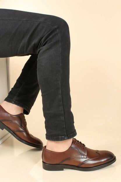 Genuine Leather Coffee Men Classic Shoes 2273403