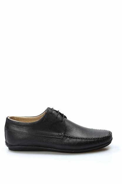 Genuine Leather Black Men Casual Shoes 1849290
