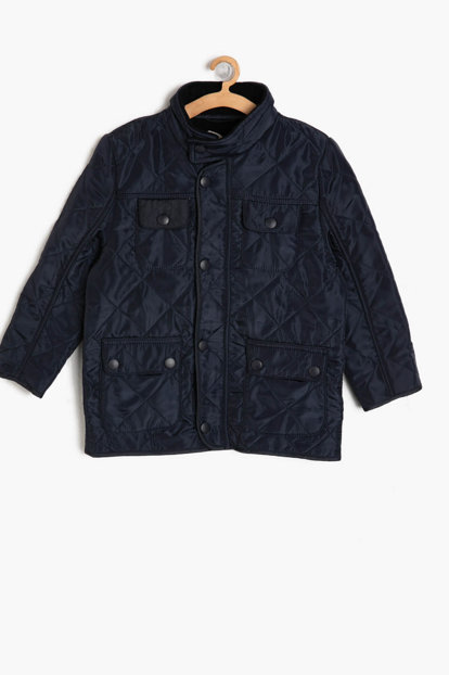 Navy Blue Boys Quilted Coats 9KKB28018OW