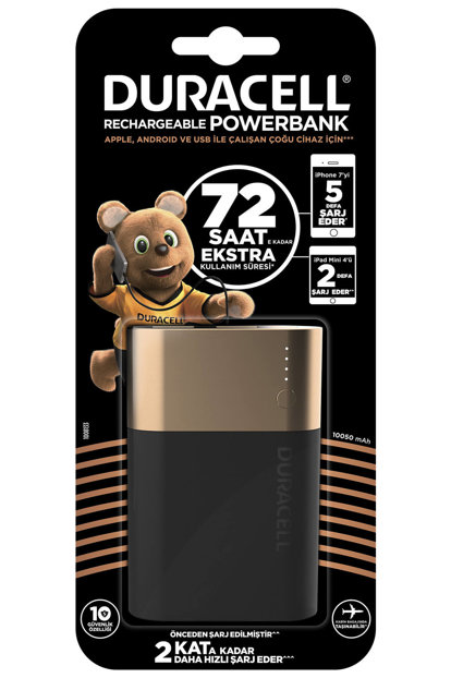 Powerbank - Mobile Phone Charger, 10050 mAh, 72 hours 5000394029781