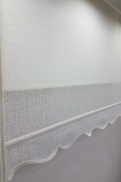 180X200 Double Mechanism Tulle Curtain and Roller Blinds MT1084 8605480846338