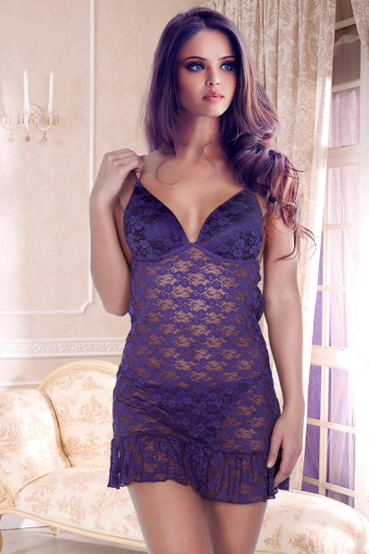 Covered Lace Nightdress Suit 001-018800