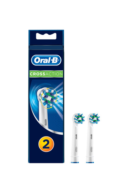 Toothbrush Replacement Headpiece Cross Action 2 Pcs 4210201135159
