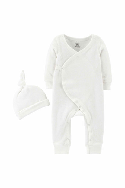White Layette Doll Set of 2 126H520