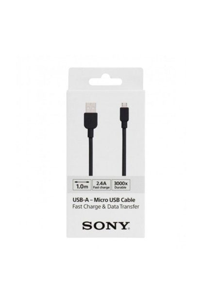 Sony CP-AB100 100CM Micro Usb 2.4A Fast Charging And Data Cable Black USB00231