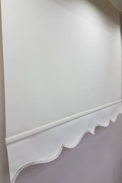 130X200 Straight Cream Roller Blinds MS1201 8605481023786