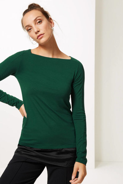 Women's Green Long Sleeve Tunic T41007363 T41007363