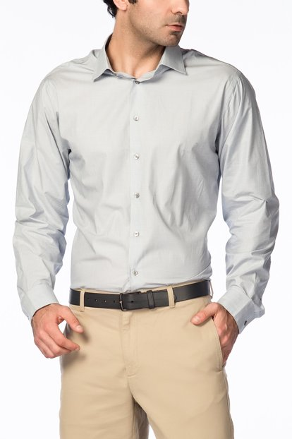 Gray Men's Shirt K1677-07