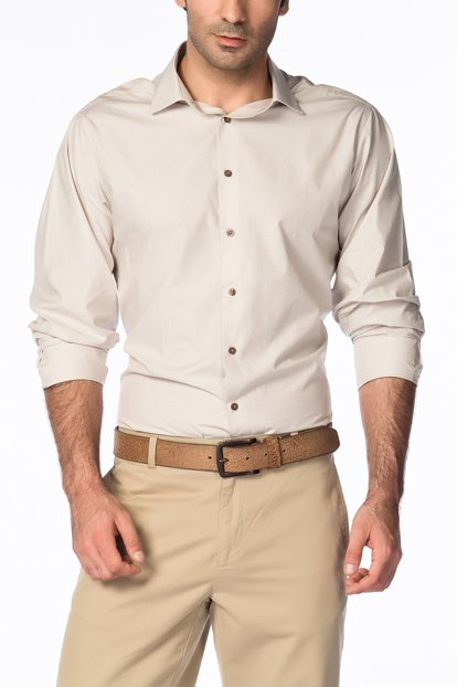 Cream Men's Shirt K1677-204