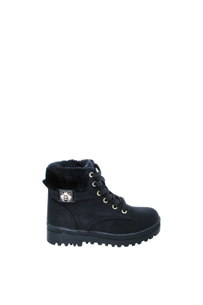 Black Children's Boots Ea27Of27251-596