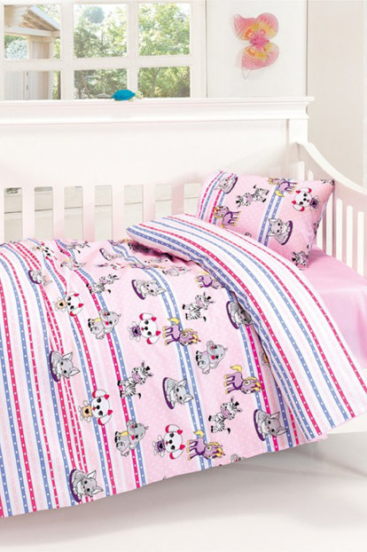 Baby Bedding Set Cute Pink 2193