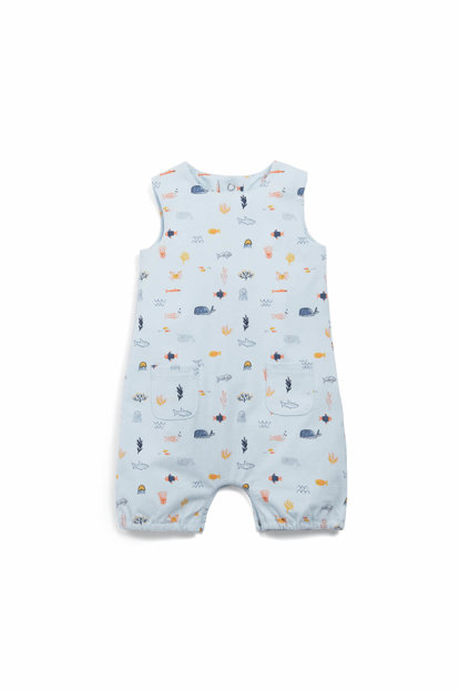 Child Sea Print Shorts Romper S536Dn5B8 S536DN5