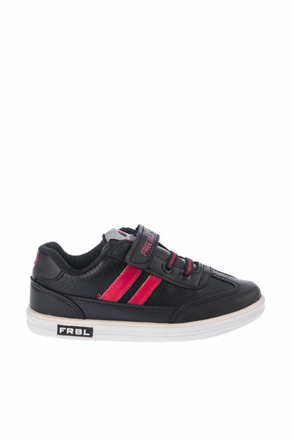 Black Red Children Shoes A712-18