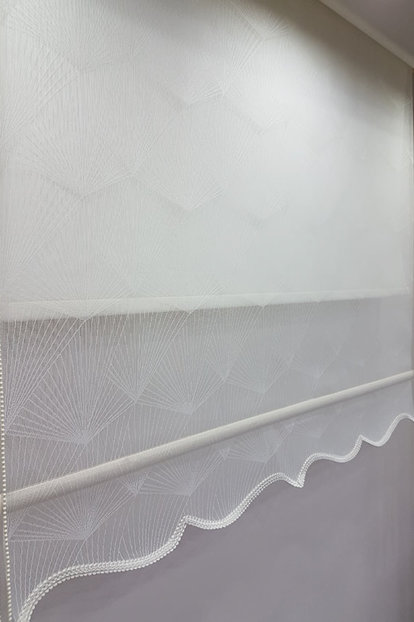 180X200 Double Mechanism Tulle Curtain and Roller Blinds MT1095 8605480906034
