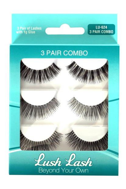 False Eyelashes - 3 Pairs LU-624 8699067176241