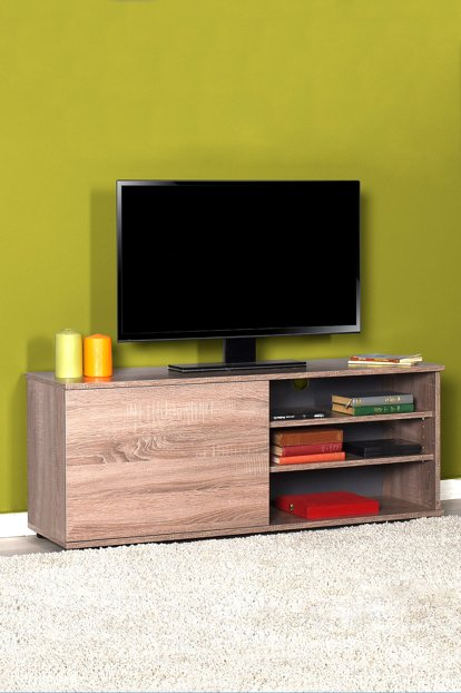 Flat Line Plus Stand Cover Tv Stand - Latte TVC-510-LL-1