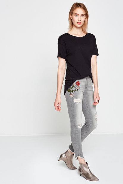 Women's Gray Jean 7YAK47325MD 7YAK47325MD
