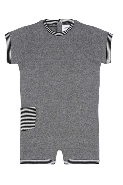 Organic Gray Melange / Barbatoz with Black and White Ribbed Accessory T_WHBLACKSTRIPE_BD_1052