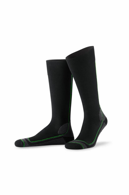 Assisted Sports Socks Black-ragged anthracite 79337