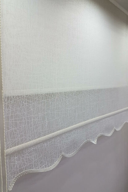 200X200 Double Mechanism Tulle Curtain and Roller Blinds MT1084 8605480846994