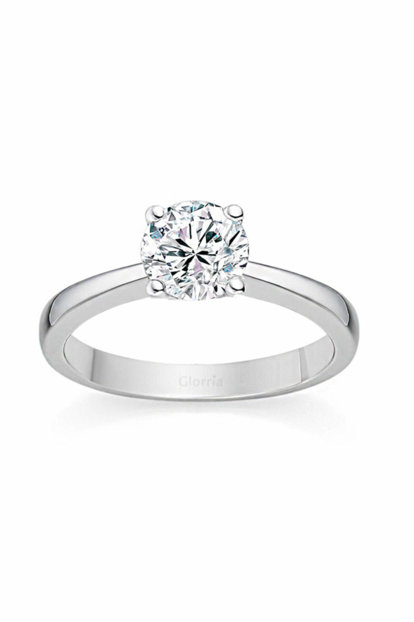 Women's Silver Solitaire Ring DT0213