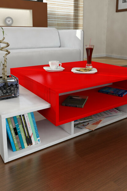 Tab Coffee Table White-Red 8681506221391