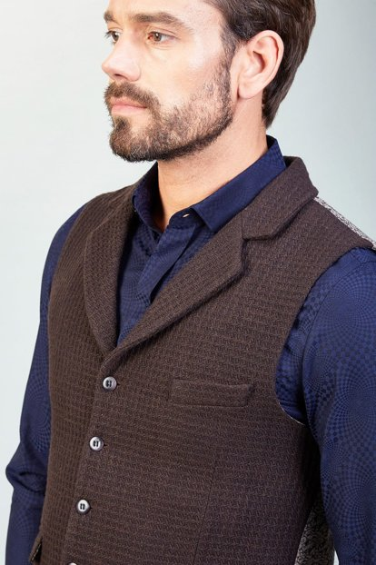 Men's Coffee Vest - A82Y6521-07 A82Y6521-07
