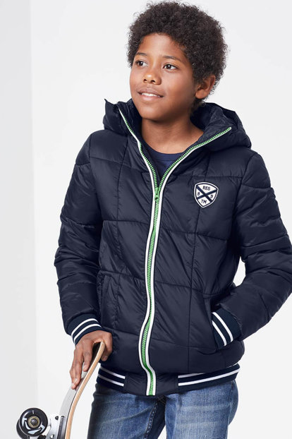 Boys Blue Thermal Quilted Coats 97290