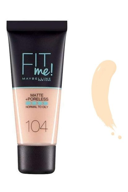 Matte Foundation - Fit Me Matte + Poreless Foundation 104 Soft Ivory 3600531369408