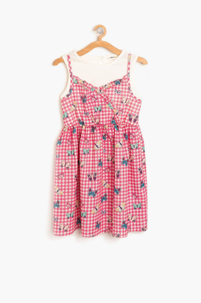 Pink Girl Kids Patterned Dress 8YKG87771AW