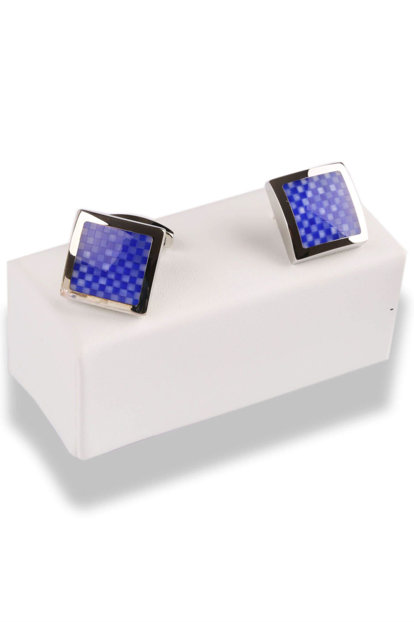 Blue Color Square Cufflink KD549