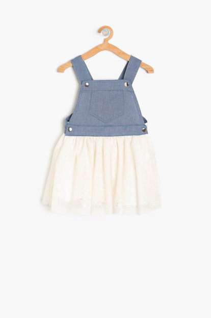Girls' Tulle Detailed Dress 9YMG89335OW