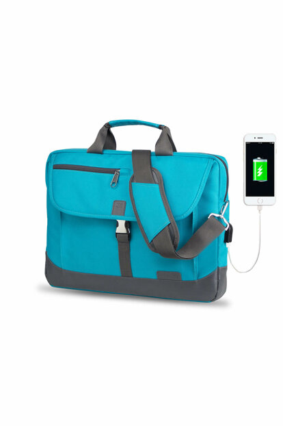 Turquoise Unisex Laptop / Briefcase MV8848