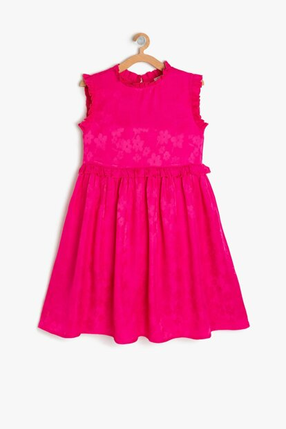 Pink Girl Kid Patterned Dress 9YKG87710AW
