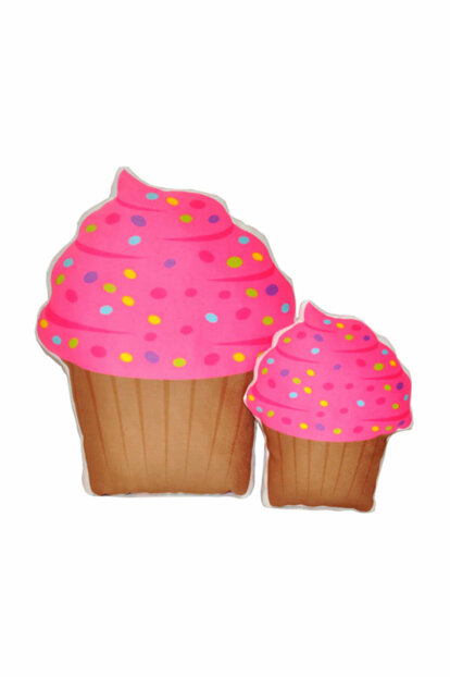 2 Pins Pink Cupcake Pillow NIHALCE1103