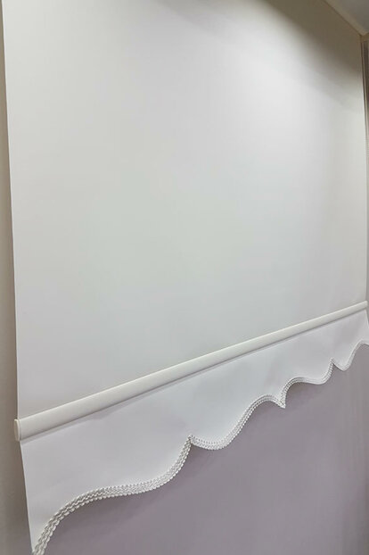 170X200 Straight Cream Roller Blinds MS1201 8605481025098