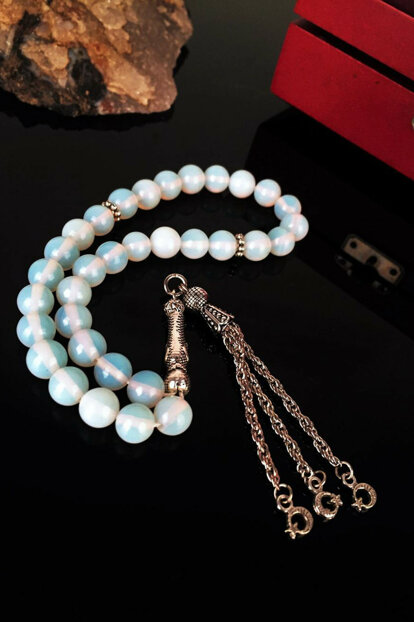 Male Natural Stone Moonstone Rosary Krb144
