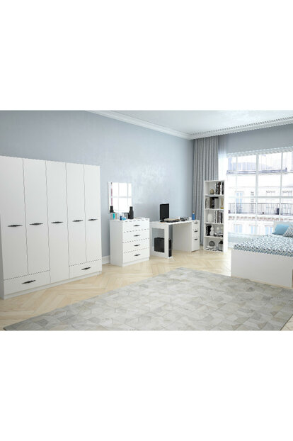 Texas Teen Room With 2 Drawers (Bright White) With 2 Drawers 123TEKSAS011